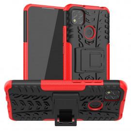 Rugged Kickstand Xiaomi Redmi 9C Hoesje - Rood