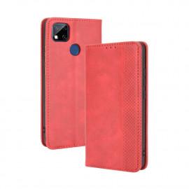 Vintage Book Case Xiaomi Redmi 9C Hoesje - Rood