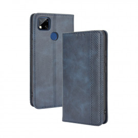 Vintage Book Case Xiaomi Redmi 9C Hoesje - Blauw