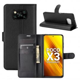 Book Case Xiaomi Poco X3 Hoesje - Zwart