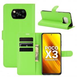Book Case Xiaomi Poco X3 Hoesje - Groen