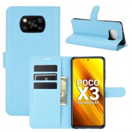 Book Case Xiaomi Poco X3 Hoesje - Lichtblauw