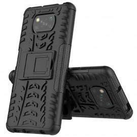 Rugged Kickstand Xiaomi Poco X3 Hoesje - Zwart