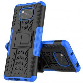Rugged Kickstand Xiaomi Poco X3 Hoesje - Blauw