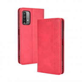 Vintage Book Case Xiaomi Redmi 9T Hoesje - Rood