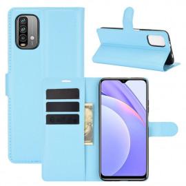Book Case Xiaomi Redmi 9T Hoesje - Lichtblauw