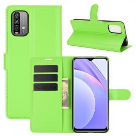 Book Case Xiaomi Redmi 9T Hoesje - Groen