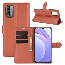 Book Case Xiaomi Redmi 9T Hoesje - Bruin