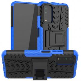 Rugged Kickstand Xiaomi Redmi 9T Hoesje - Blauw