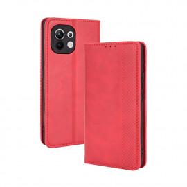 Vintage Book Case Xiaomi Mi 11 Hoesje - Rood