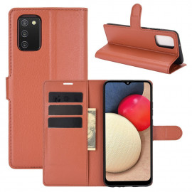 Book Case Samsung Galaxy A02s Hoesje - Bruin