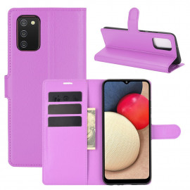 Book Case Samsung Galaxy A02s Hoesje - Paars