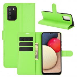 Book Case Samsung Galaxy A02s Hoesje - Groen