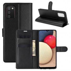 Book Case Samsung Galaxy A02s Hoesje - Zwart
