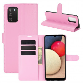 Book Case Samsung Galaxy A02s Hoesje - Pink