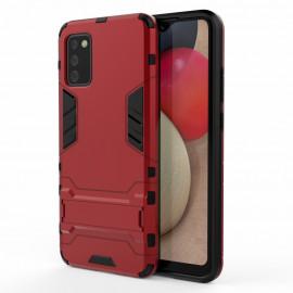 Armor Kickstand Samsung Galaxy A02s Hoesje - Rood