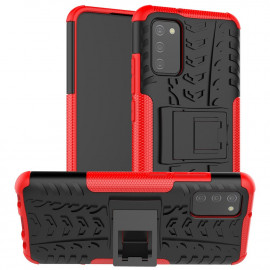 Rugged Kickstand Samsung Galaxy A02s Hoesje - Rood