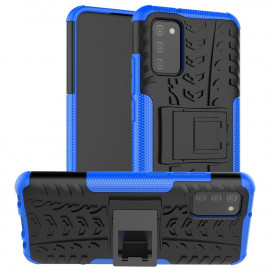 Rugged Kickstand Samsung Galaxy A02s Hoesje - Blauw