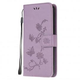 Bloemen Book Case Xiaomi Poco X3 Hoesje - Paars