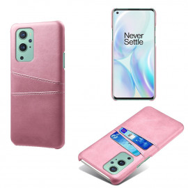 Dual Card Back Cover OnePlus 9 Pro Hoesje - Rose Gold