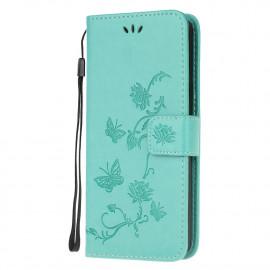 Bloemen Book Case Nokia 1.4 Hoesje - Cyan