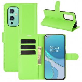 Book Case OnePlus 9 Hoesje - Groen