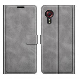 Book Case Deluxe Samsung Galaxy Xcover 5 Hoesje - Grijs