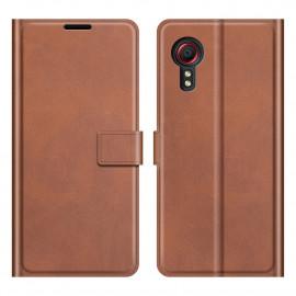 Book Case Deluxe Samsung Galaxy Xcover 5 Hoesje - Bruin