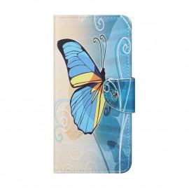 Book Case Nokia 1.4 Hoesje - Blauwe Vlinder