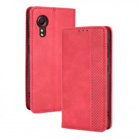 Vintage Book Case Samsung Galaxy Xcover 5 Hoesje - Rood