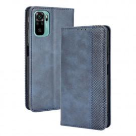 Vintage Book Case Xiaomi Redmi Note 10 4G Hoesje - Blauw