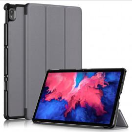 Tri-Fold Book Case Lenovo Tab P11 (Plus) Hoesje - Grijs
