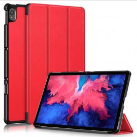 Tri-Fold Book Case Lenovo Tab P11 (Plus) Hoesje - Rood