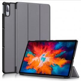 Tri-Fold Book Case Lenovo Tab P11 Pro Hoesje - Grijs