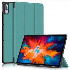 Tri-Fold Book Case Lenovo Tab P11 Pro Hoesje - Groen