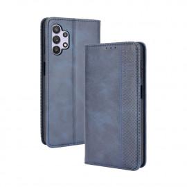 Vintage Book Case Samsung Galaxy A32 5G Hoesje - Blauw