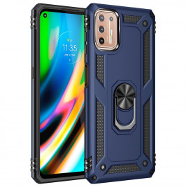 Ring Kickstand Motorola Moto G9 Plus Hoesje - Blauw