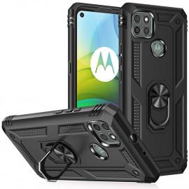 Ring Kickstand Motorola Moto G9 Power Hoesje - Zwart