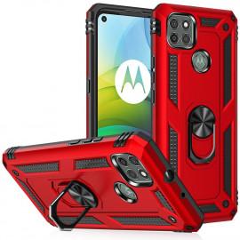 Ring Kickstand Motorola Moto G9 Power Hoesje - Rood