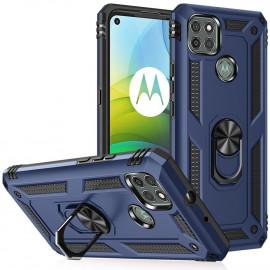Ring Kickstand Motorola Moto G9 Power Hoesje - Blauw