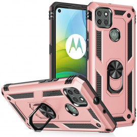Ring Kickstand Motorola Moto G9 Power Hoesje - Rose Gold