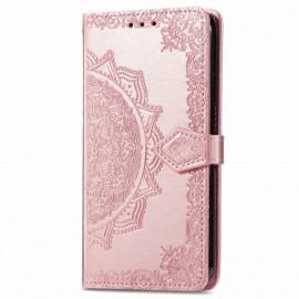 Bloemen Book Case Motorola Moto G9 Power Hoesje - Rose Gold