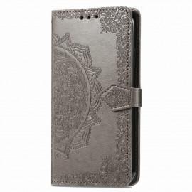 Bloemen Book Case Motorola Moto G9 Power Hoesje - Grijs