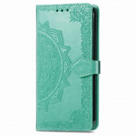 Bloemen Book Case Motorola Moto G9 Power Hoesje - Cyan