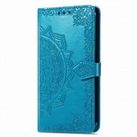 Bloemen Book Case Motorola Moto G9 Power Hoesje - Blauw