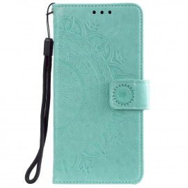 Bloemen Book Case Motorola Moto G10 / G20 / G30 Hoesje - Cyan