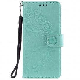 Bloemen Book Case Motorola Moto G30 / G10 Hoesje - Cyan