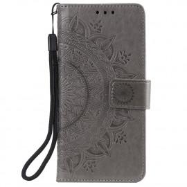 Bloemen Book Case Motorola Moto G30 / G10 Hoesje - Grijs