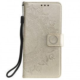 Bloemen Book Case Motorola Moto G10 / G20 / G30 Hoesje - Goud