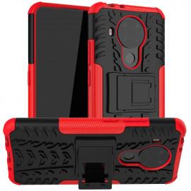 Rugged Kickstand Nokia 5.4 Hoesje - Rood